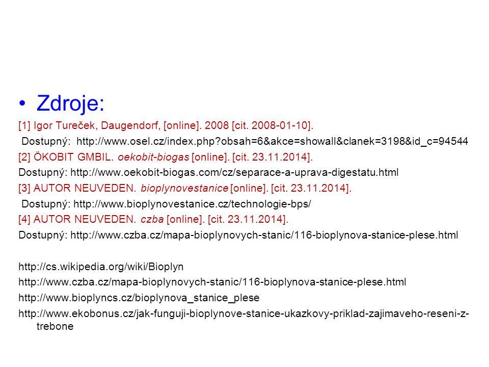 Zdroje: [1] Igor Tureček, Daugendorf, [online]. 2008 [cit. 2008-01-10].